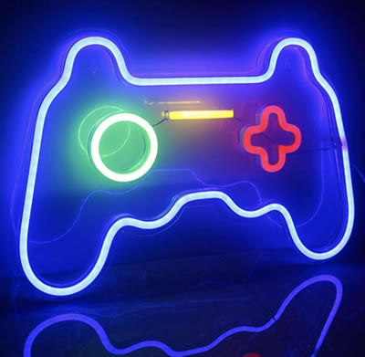 neon game controller